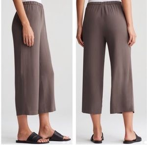 Eileen Fisher Georgette Crepe Silk Pants